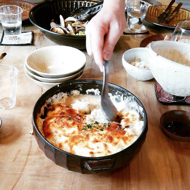 白子と信長葱のグラタン#四月の魚 - from Instagram