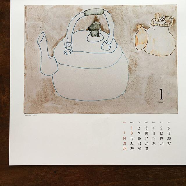 2018 がやってきた!お気に入りのカレンダー福岡の器らくや 悠遊さんのオリジナルとアトリエ ブラヴォの。@yu_yu0304 @jojosusumu
